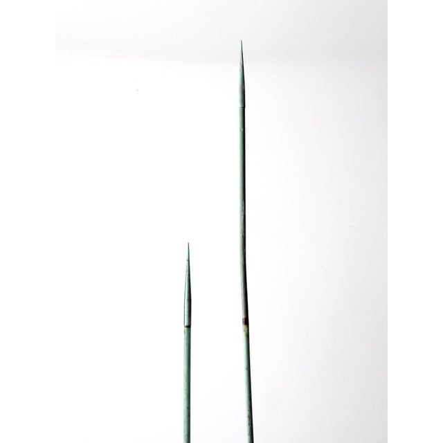 Mid-Century Modern Antique Lightning Rods - A Pair For Sale - Image 3 of 8