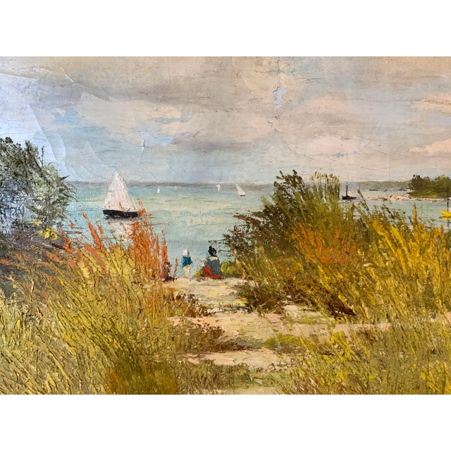 French French Seascape Painting by Lois Clark, Framed For Sale - Image 3 of 13