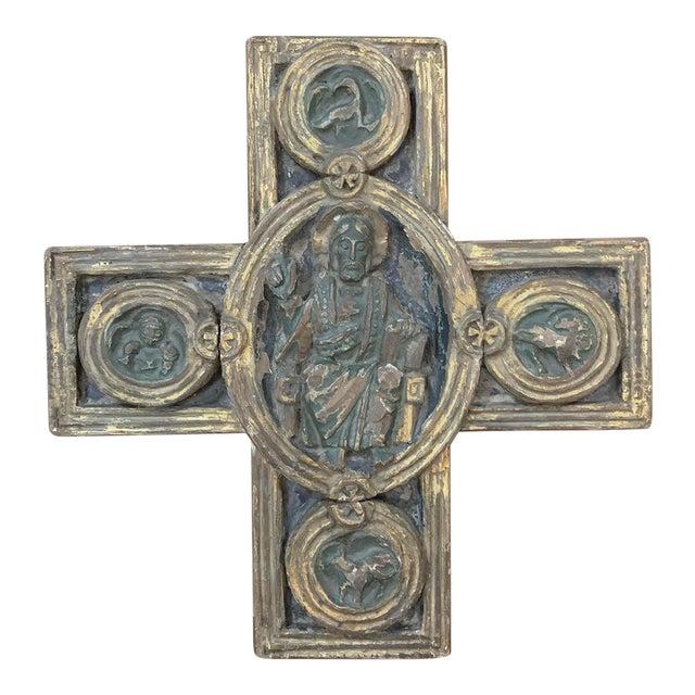 18th Century Italian Polychrome Cross For Sale