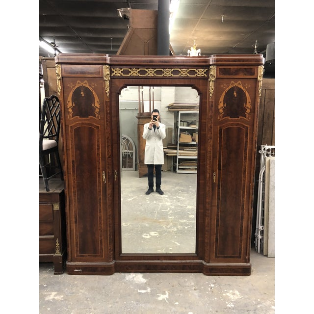 19th Century French Neoclassical Mirrored Armoire For Sale - Image 13 of 13