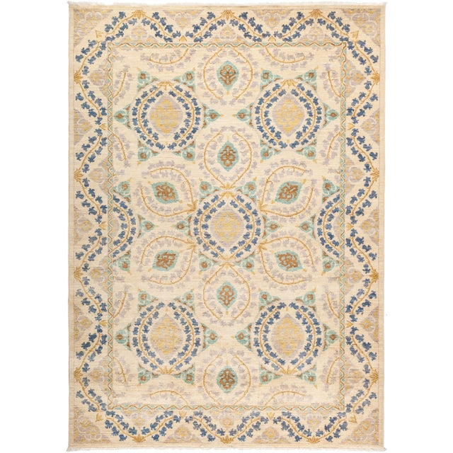 "Suzani Hand Knotted Area Rug - 6' 2"" X 8' 8"" - Image 4 of 4"