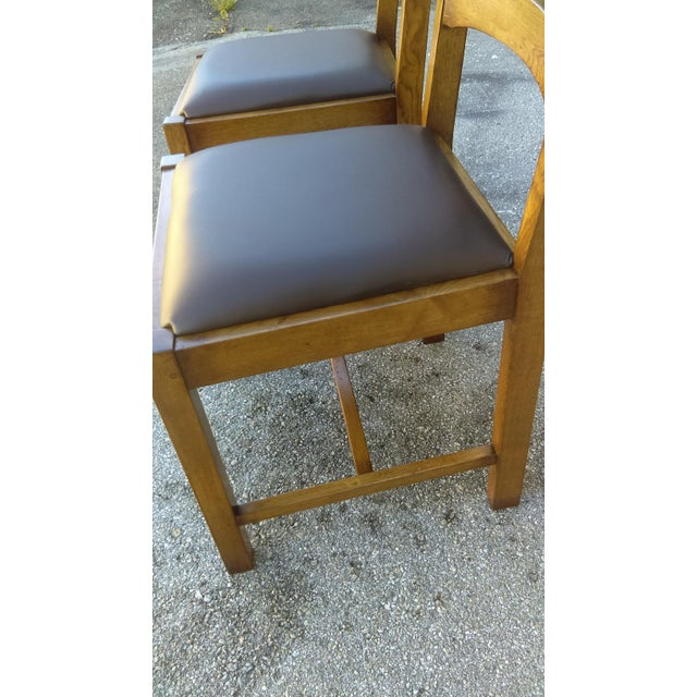 Ladder Back Side Chairs - A Pair For Sale - Image 5 of 5