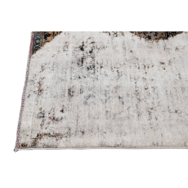 "1960s Vintage Overdyed Rug, 9'4"" X 12'4"" For Sale - Image 5 of 9"