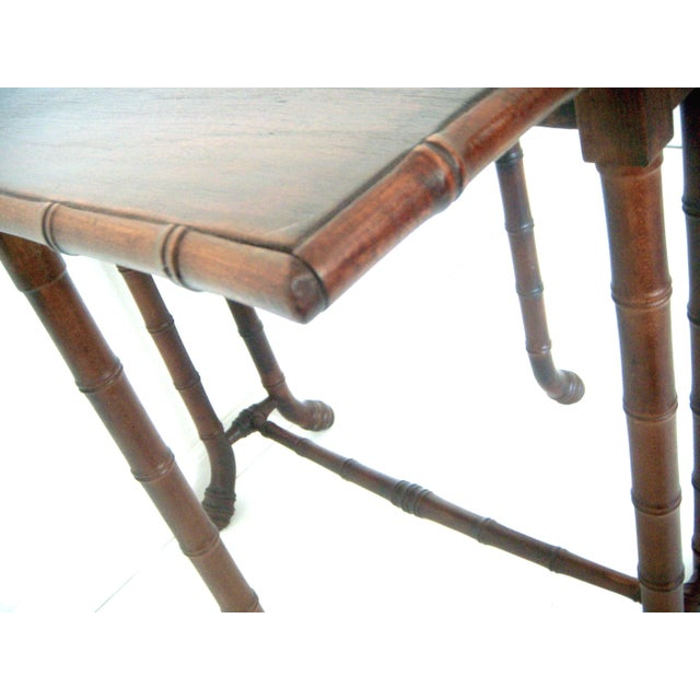 Antique Faux Bamboo Gate Leg Table - Image 4 of 8