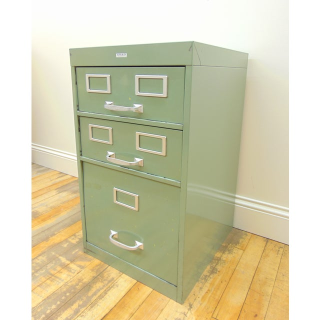 Cole industrial light green metal file cabinet chairish industrial cole industrial light green metal file cabinet for sale image 3 of 8 malvernweather Images