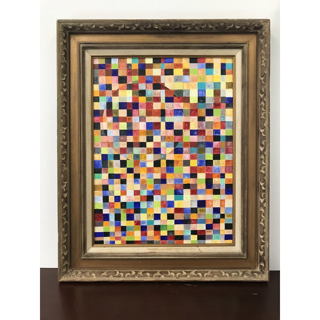 Paint Contemporary Abstract Framed Painting For Sale - Image 7 of 7
