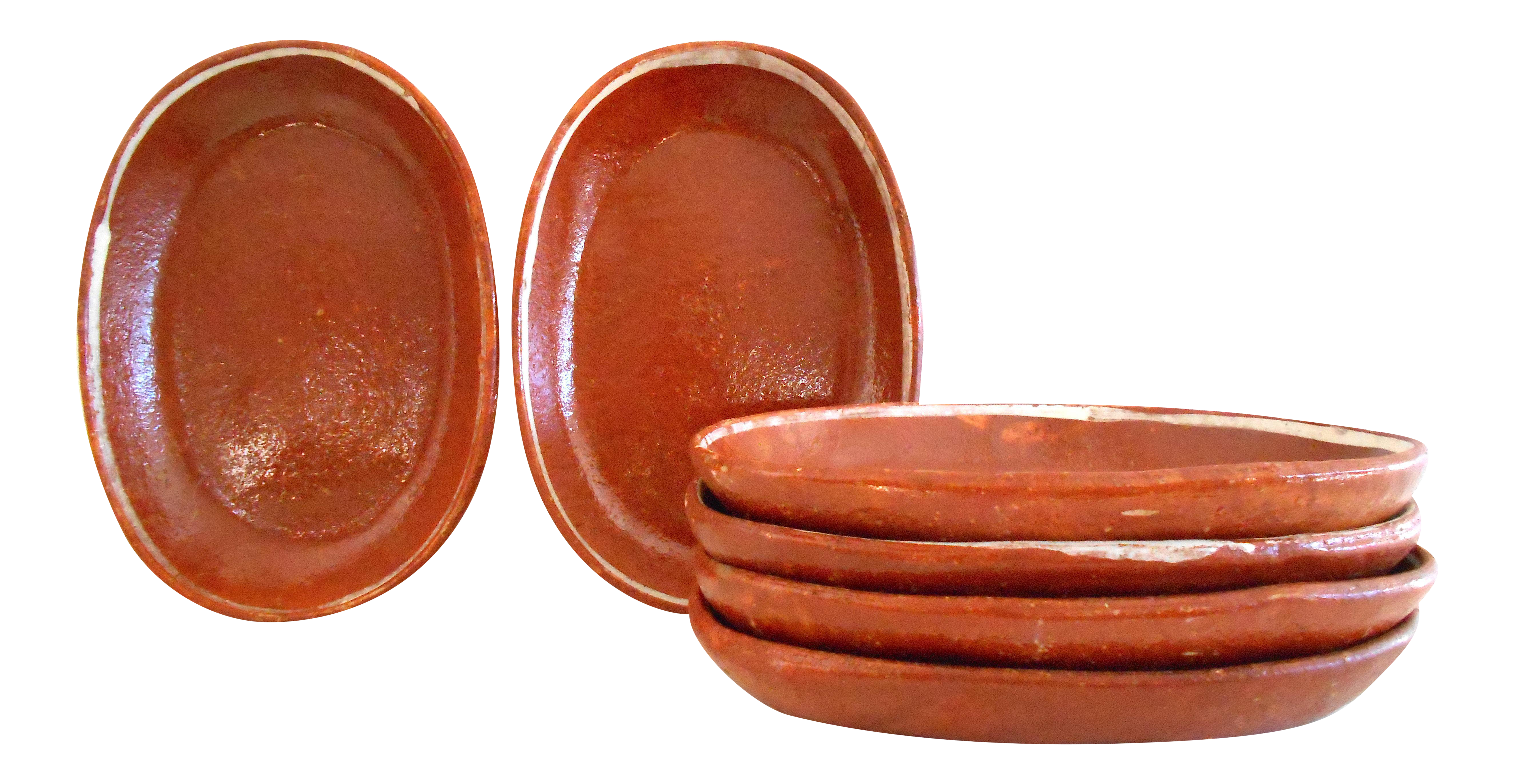 Oval Terracotta Plates - Set of 6  sc 1 st  Chairish & Oval Terracotta Plates - Set of 6 | Chairish