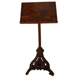17th Century Italian Poplar Wood Music Stand For Sale