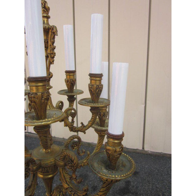 Pair French Empire Style Candelabras For Sale - Image 4 of 6