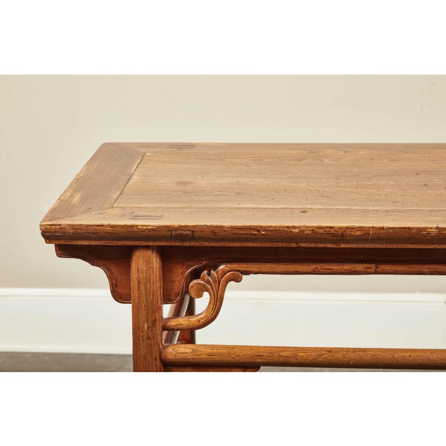 Brown Late 19th C. Chinese Side Tables - a Pair For Sale - Image 8 of 9