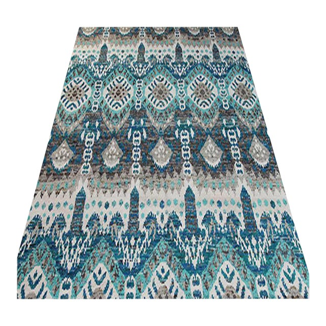 "1990s Ikat Area Rug - 8'0"" X 10'0"" For Sale"