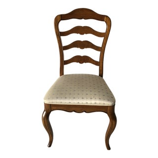 Ethan Allen Fruitwood Finish Dining Chair For Sale