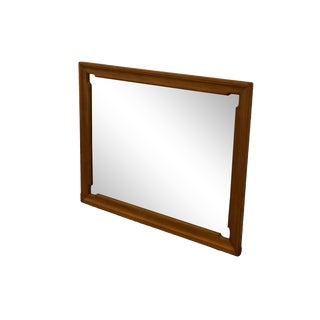 """Tell City Solid Hard Rock Maple Colonial Style 32x42"""" Landscape Mirror 8306 For Sale"""