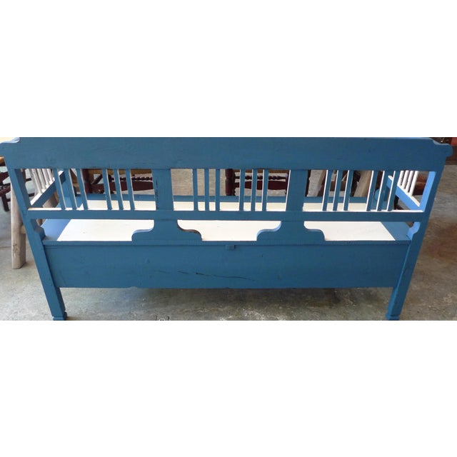 19th Century French XIX Long Painted Bench For Sale In Los Angeles - Image 6 of 13