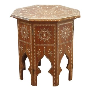 20th Century Moroccan Octagonal Low Table For Sale