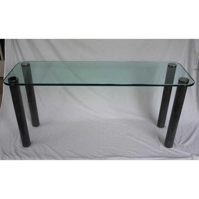 Hollywood Regency Leon Rosen for Pace Collection Console Table For Sale - Image 3 of 10