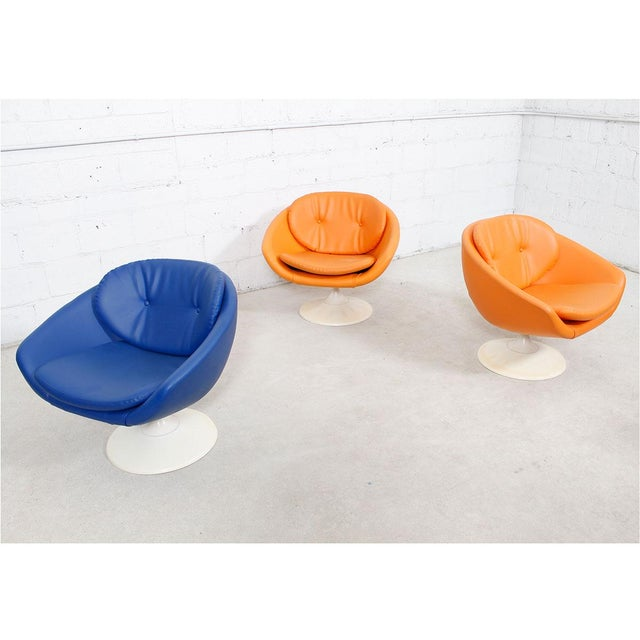 Blue 60s Swivel Pod Chair by Overman of Sweden - Image 10 of 10