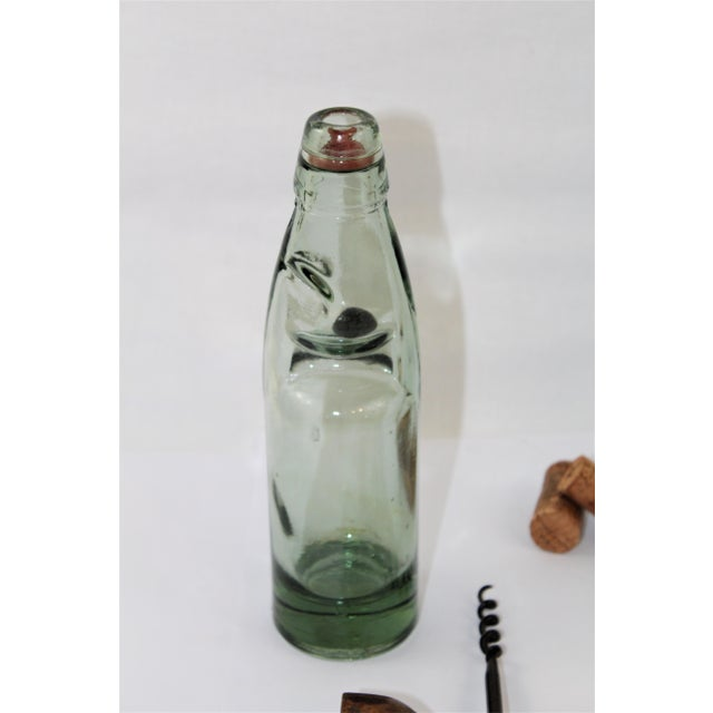Late 19th Century Antique English Codd Bottle With Codd Bottle Opener, Corkscrew - a Pair For Sale - Image 5 of 9