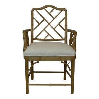 Late 20th Century Faux-Bamboo Arm Chair For Sale