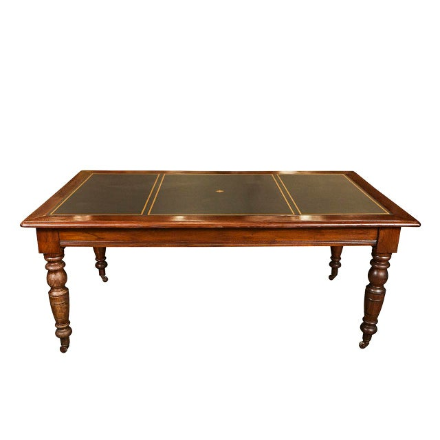Large English Writing Table circa 1870's For Sale - Image 9 of 9