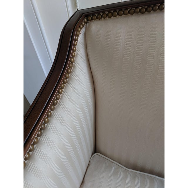 Hollywood Regency Hickory Chair James River Plantation Settee Loveseat For Sale - Image 3 of 11