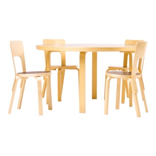 Dining Sets Model 91/66 by Alvar Aalto for Artek Finland For Sale