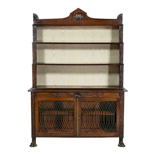 Regency Mahogany Bookcase or Cabinet Credenza For Sale
