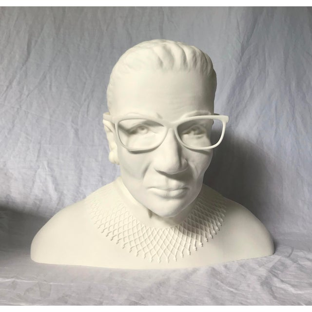 A one of a kind, larger-than-life bust of the Notorious RBG. This original art piece was created for an exhibit on amazing...