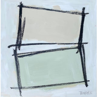 """Disjointed"" Contemporary Minimalist Mixed-Media Painting by Sarah Trundle For Sale"