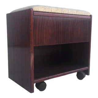 Mid-Century Rosewood Vanity Stool by Hundevad For Sale