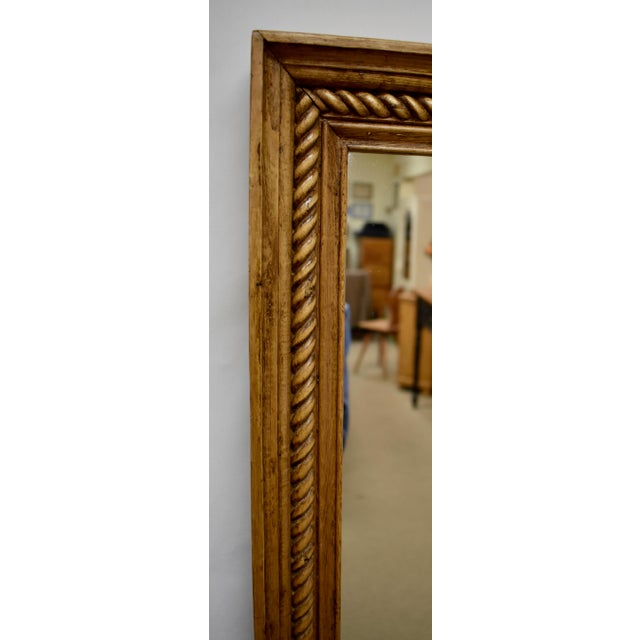 Pine Framed Rope Twist Mirror For Sale - Image 4 of 6