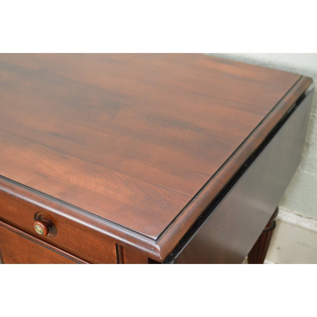 Traditional Ethan Allen British Classics Marshall Drop Leaf Desk For Sale - Image 3 of 13