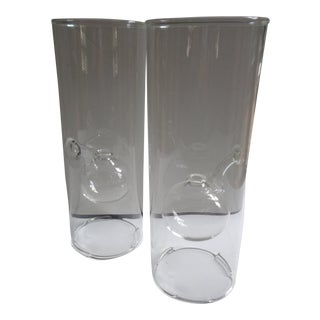 Contemporary Wolfard Glass Oil Lamps - a Pair For Sale