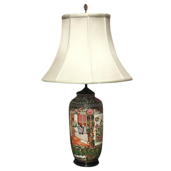 Vintage Chinoiserie Hand-Painted Accent Lamp - Image 1 of 6
