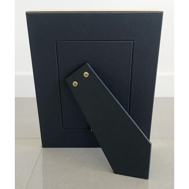 Blue Shagreen With Lapis Lazuli Photo Frame by Fabio Ltd For Sale In Palm Springs - Image 6 of 7