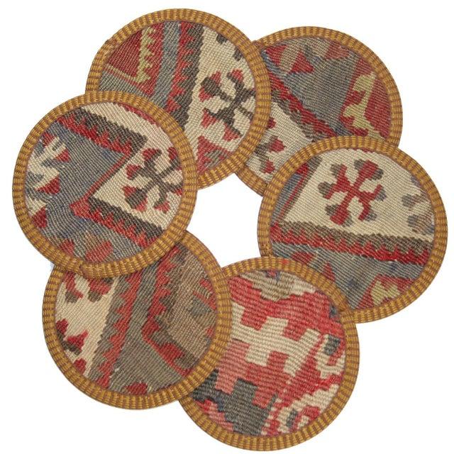 Kilim Coasters, Yüncühasan - Set of 6 - Image 1 of 2