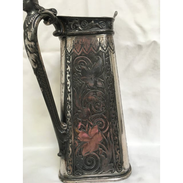Late 19th Century Antique James Tufts Silver Plate Pitcher & Tray For Sale In Los Angeles - Image 6 of 13