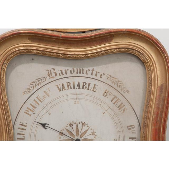 French 19th Century Gold Gilt Barometer For Sale - Image 4 of 13