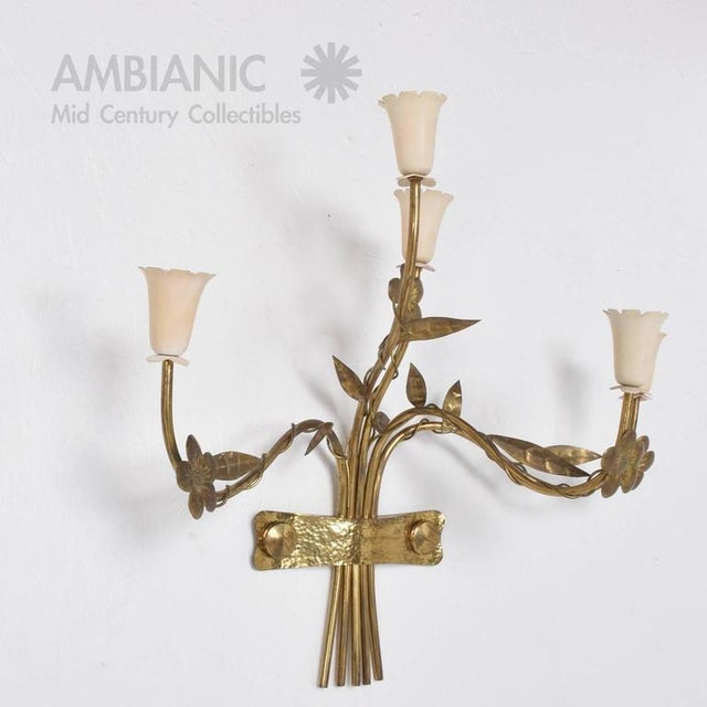 Pair of Mid-Century Modern Italian Wall Sconces For Sale - Image 4 of 8