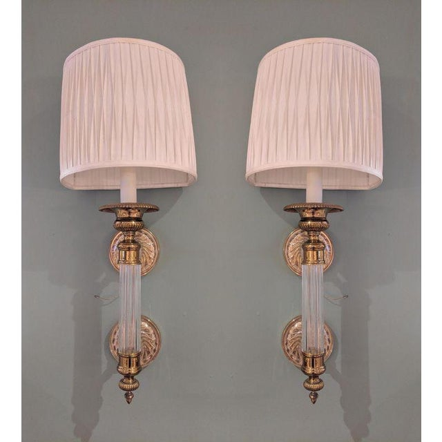 Brass Rare Paul Hansen Hollywood Regency Sconces - a Pair For Sale - Image 7 of 7