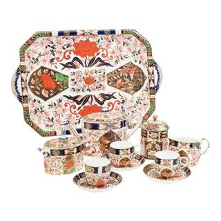 Antique England Royal Crown Derby Imari Porcelain Tea Service . For Sale