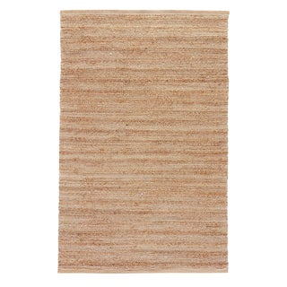 Jaipur Living Canterbury Natural Solid Tan/ White Area Rug - 3′6″ × 5′6″ For Sale