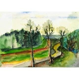 Watercolor Landscape For Sale