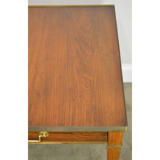 Brown Baker Vintage Regency Directoire Style Rosewood One Drawer Side Table For Sale - Image 8 of 13