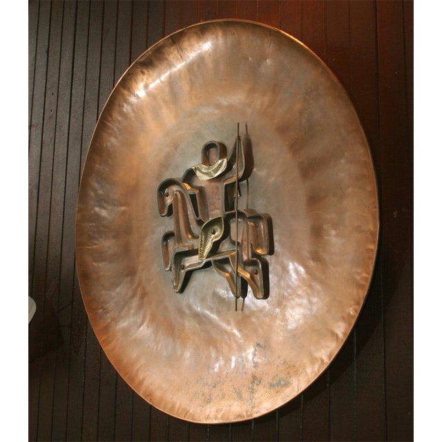 1930s French Copper Plaque For Sale - Image 5 of 19
