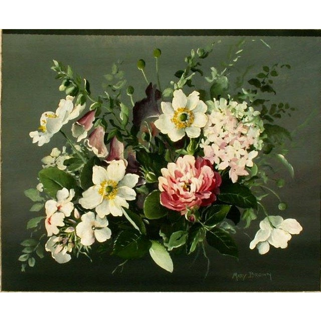 Floral Oil Painting by Mary Brown - Image 3 of 3