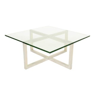 """X"" Aluminum Coffee Table After Paul Mayen For Sale"