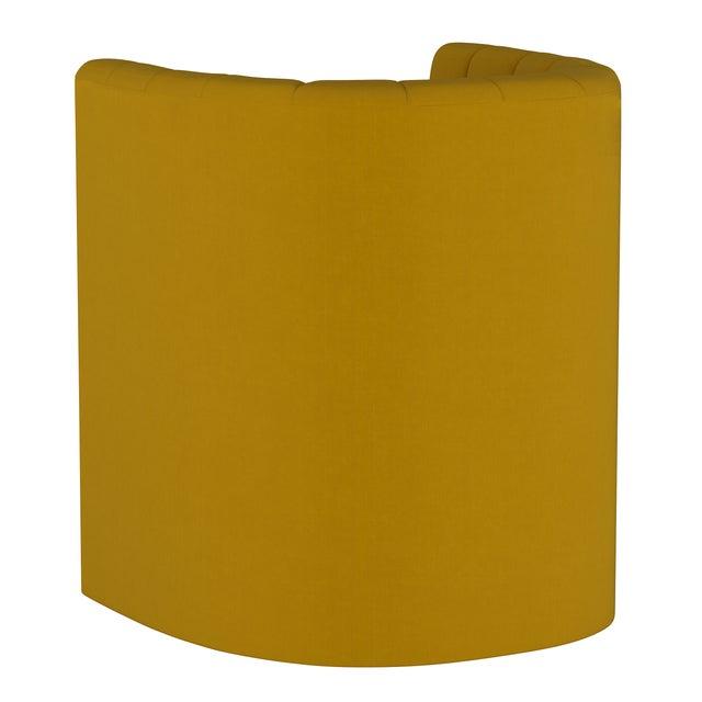 Barrel Chair, Monaco Citronella For Sale - Image 4 of 8