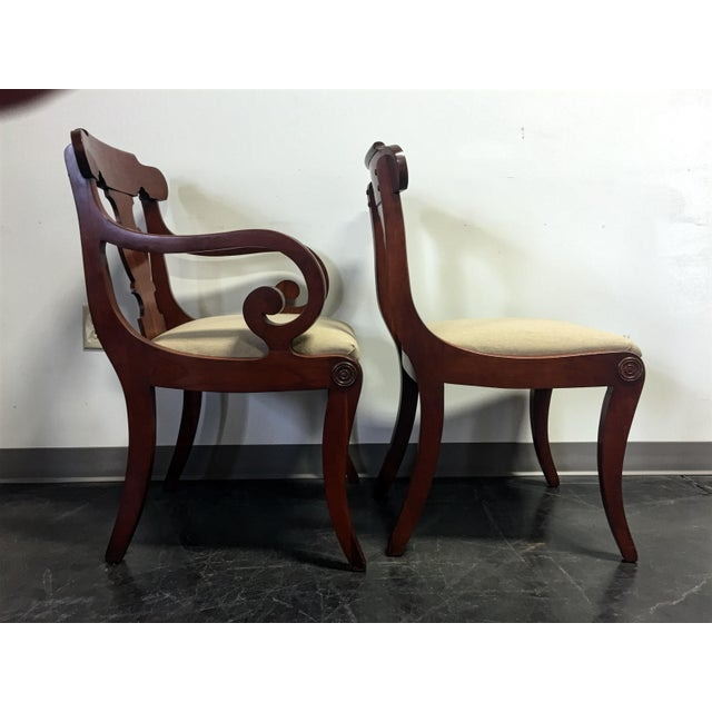 Vintage Willett Solid Cherry Empire Style Dining Chairs - Set of 6 For Sale - Image 5 of 11