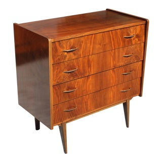 Beautiful French Art Deco Exotic Walnut Dresser or Commode Circa 1940s For Sale